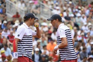 Bob and Mike Bryan at Roland-Garros