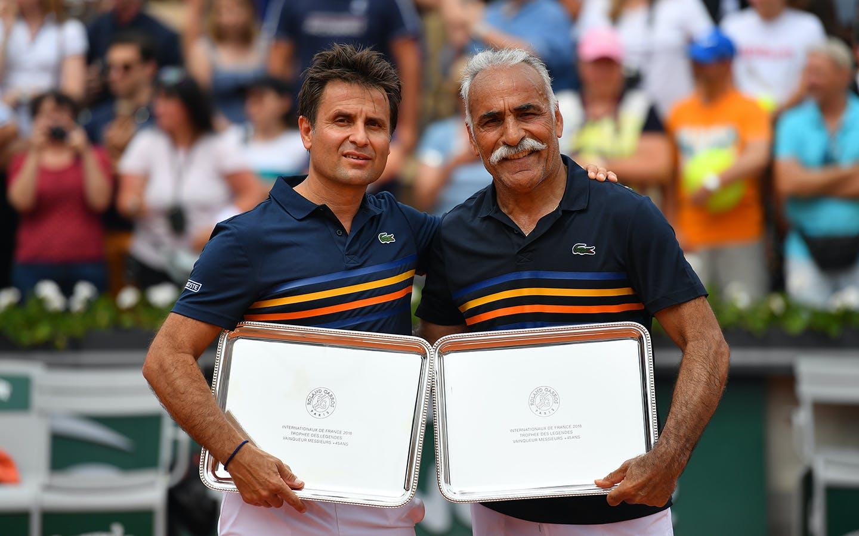 Légendes plus de 45 ans, Fabrice Santoro et Mansour Bahrami, Roland-Garros 2018