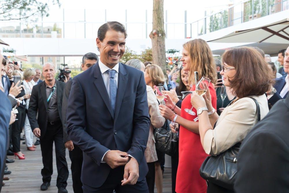 Rafael Nadal inauguration village Roland-Garros 2018