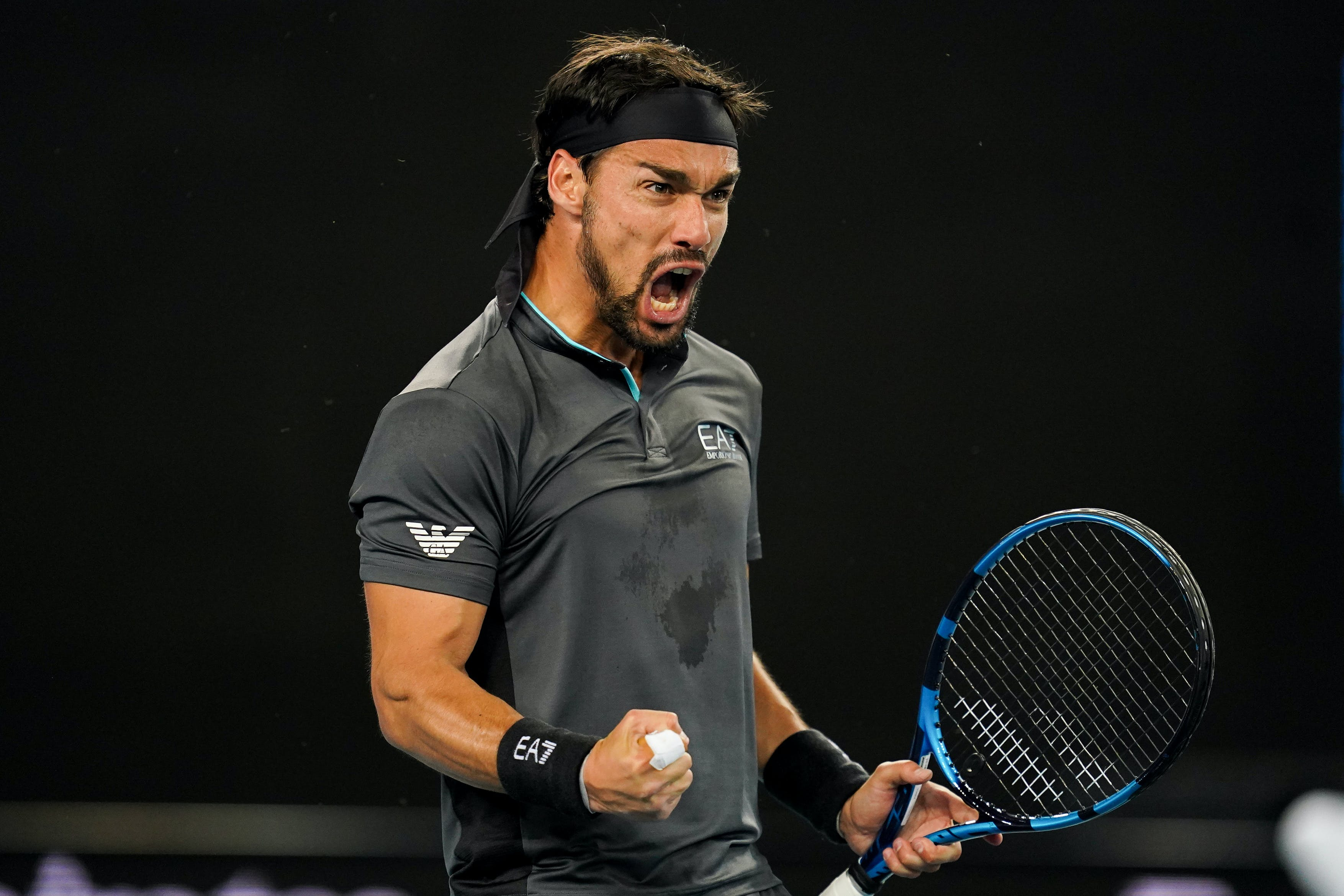 Fabio Fognini at the Australian Open 2021