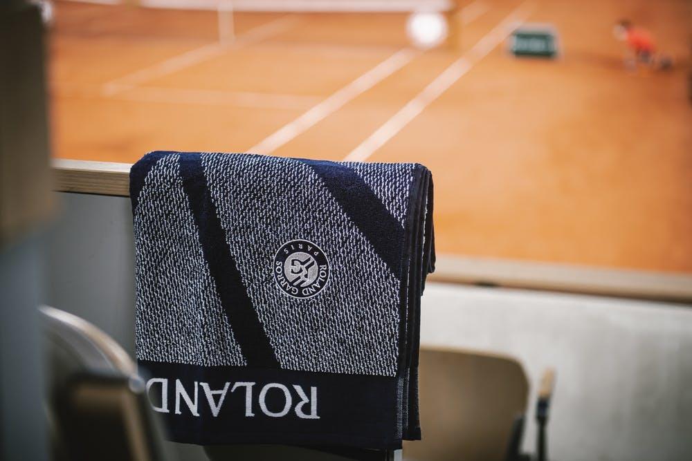Serviette officielle Roland-Garros Sessions de soirée Carré Blanc