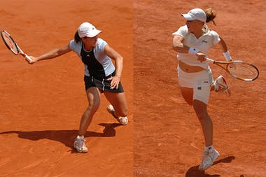 Henin & Kuznetsova at Roland-Garros 2005