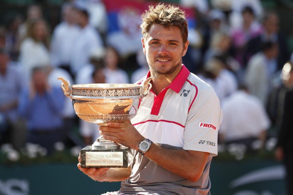 Stan Wawrinka vainqueur de Roland-Garros 2015 / Stan Wawrinka Roland-Garros 2015 champion.