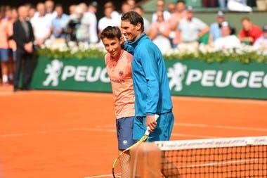 Rafael Nadal ramasseur de balles / Ballkids Roland-Garros 2018 Philippe-Chatrier
