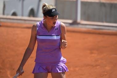 Linda Noskova, Roland Garros 2021, girls' singles semi-finals