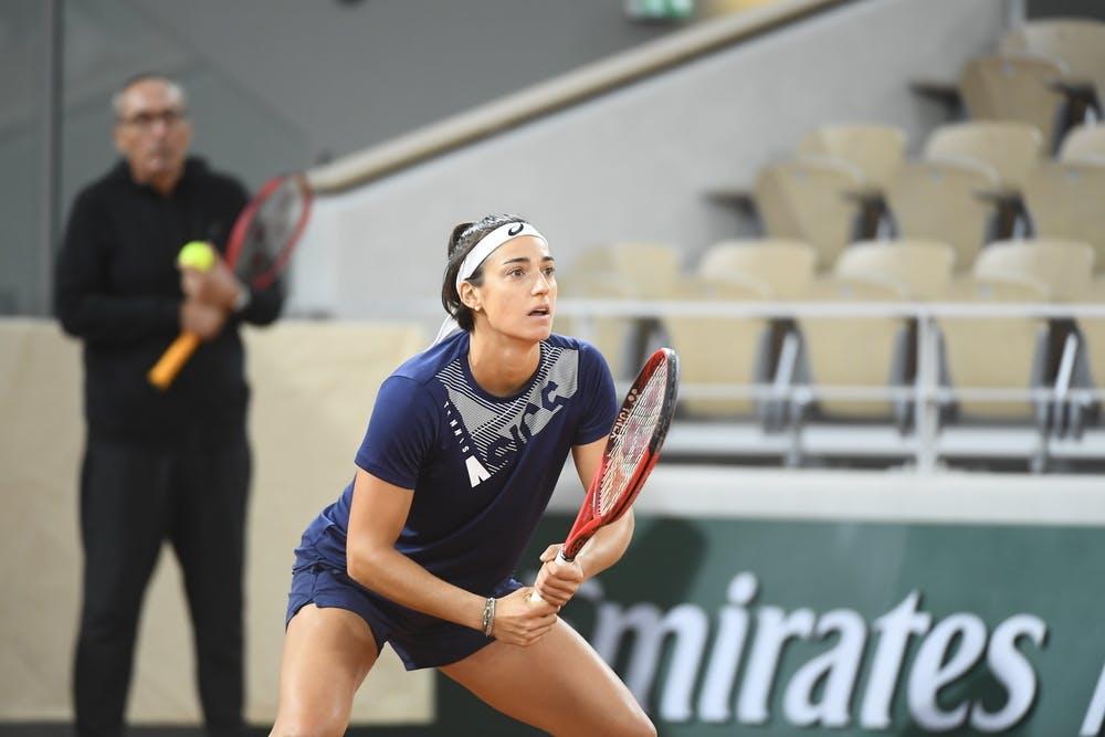 Caroline Garcia, Roland Garros 2020, practice