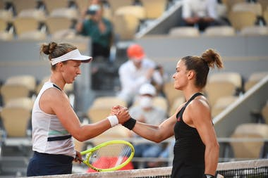 Barbora Krejcikova et Maria Sakkari / Roland-Garros 2021