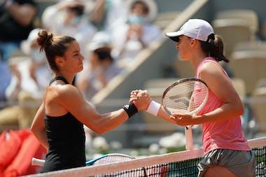Maria Sakkari, Iga Swiatek, women's singles, 1/4 F