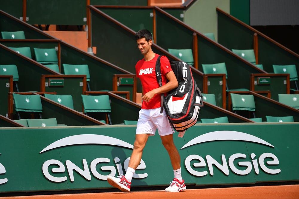 Novak Djokovic practice entraînement Roland-Garros 2018