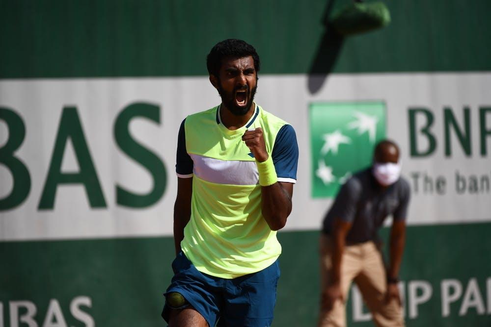 Prajnesh Gunneswaran, Roland Garros 2020, qualifying first round.