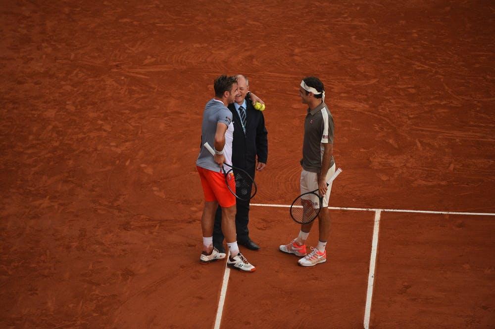 Stan Wawrinka, Wayne Mc Ewen et Roger Federer