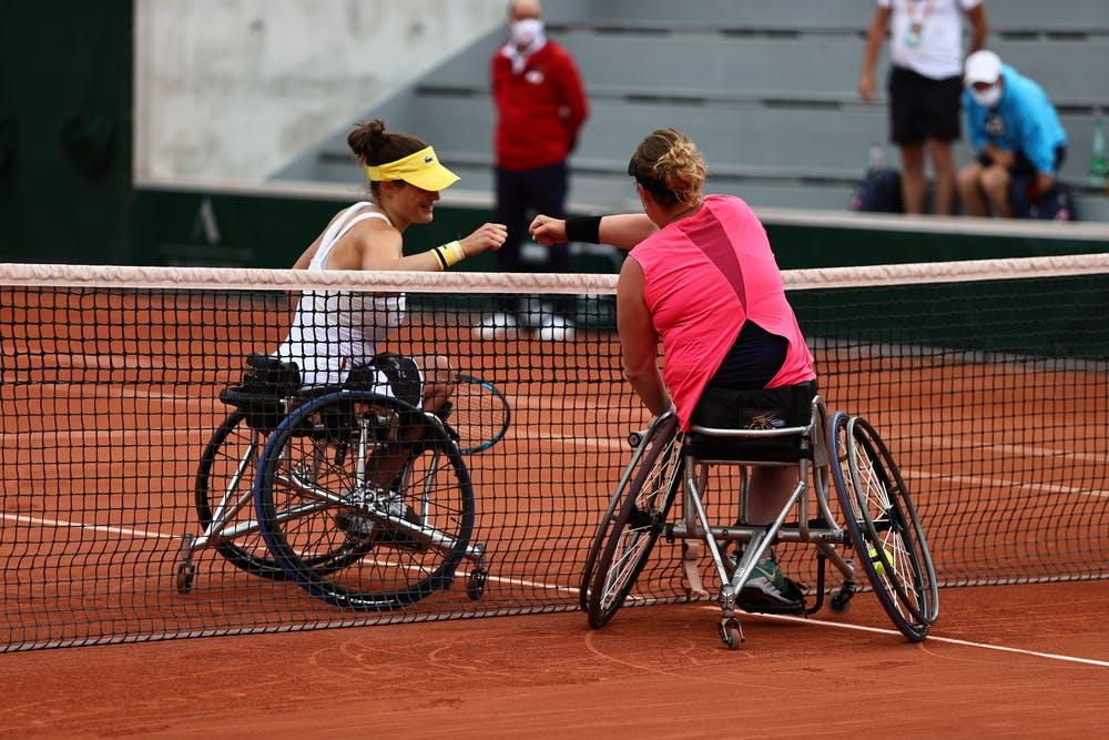 Diede de Groot, Aniek van Koot, Roland-Garros 2021, women's wheelchair singles semi-finals