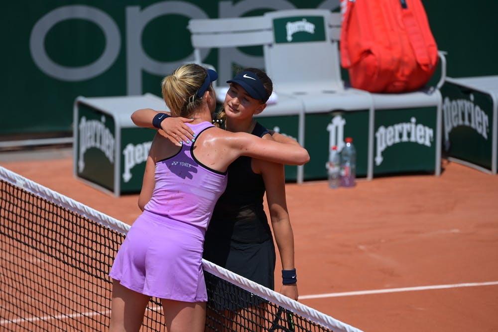Linda Noskova, Victoria Jimenez Kasintseva, Roland Garros 2021, girls' singles quarter-finals