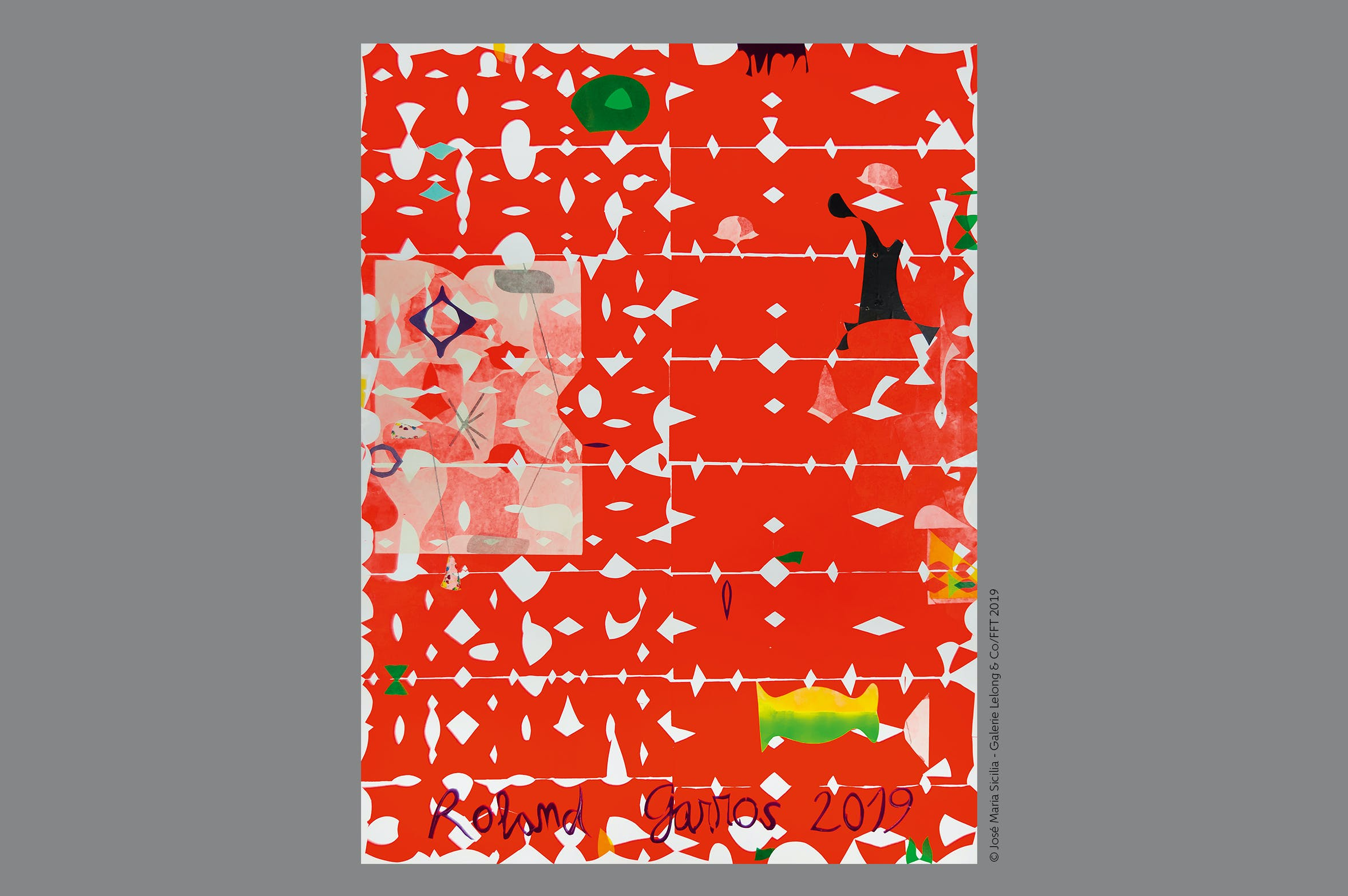 Affiche Roland-Garros 2019 / Poster Jose Maria Sicilia