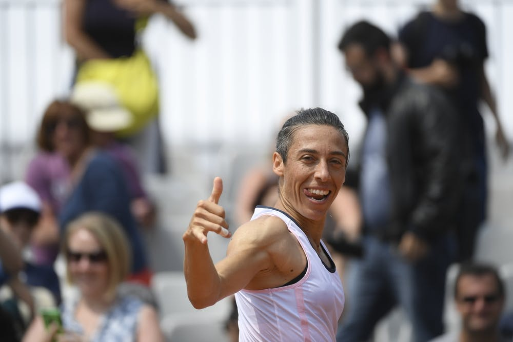Francesca Schiavone during Roland-Garros 2018