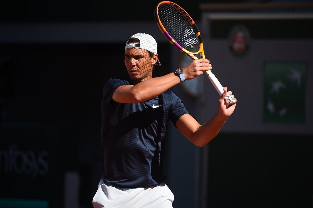 Rafael Nadal Roland Garros 2021 practice