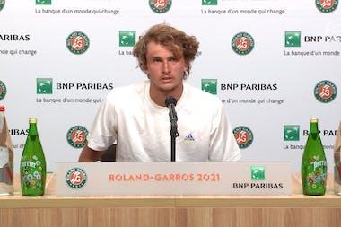 Conférence de presse Alexander Zverev / Demi-finales Roland-Garros 2021