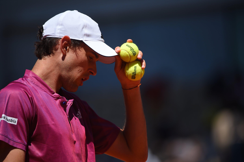 Dominic Thiem during Roland-Garros 2021