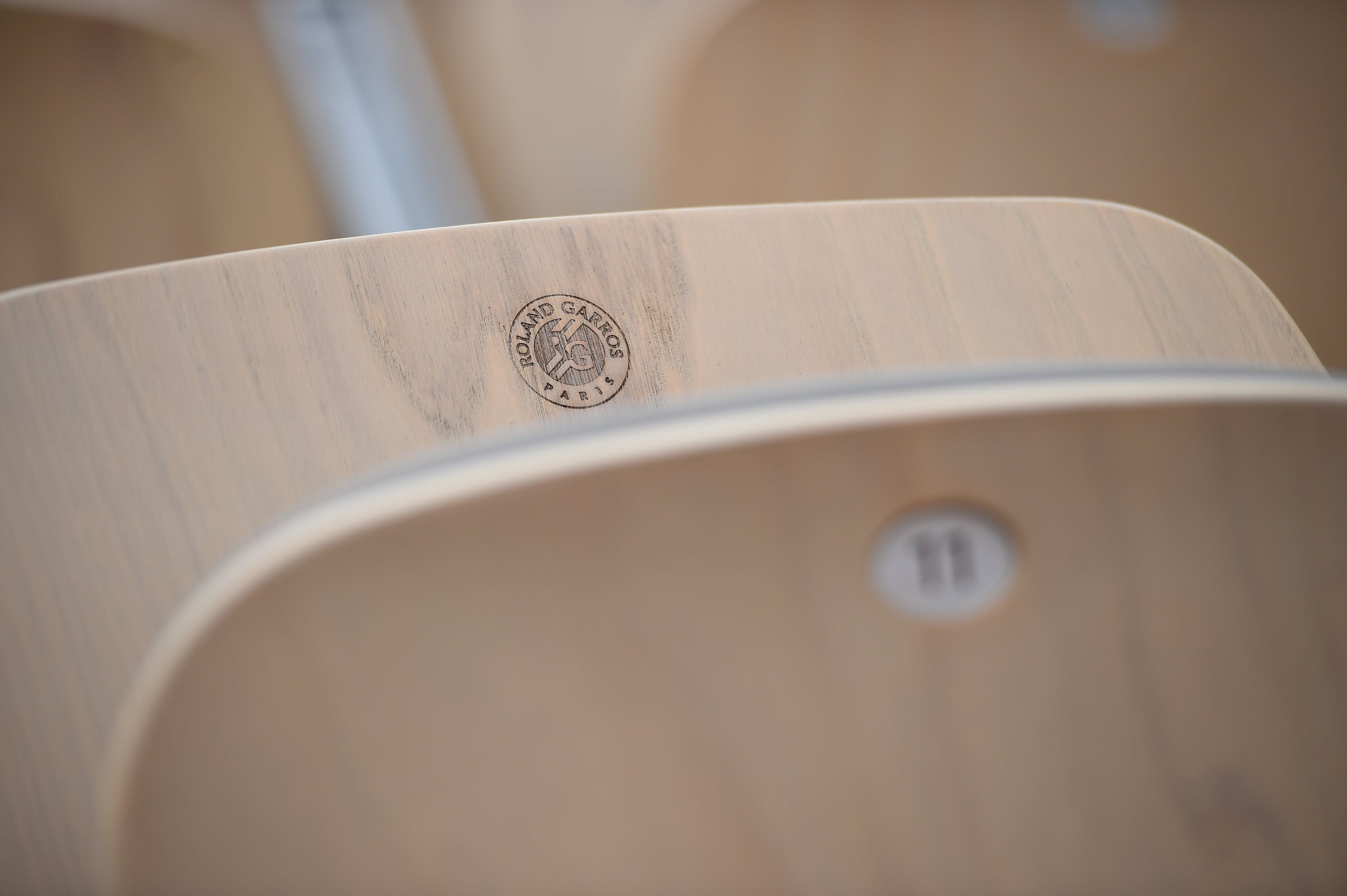 Empty seat in Roland-Garros stadium