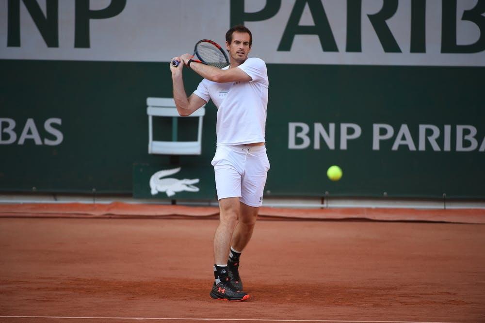 Andy Murray practice, Roland Garros 2020