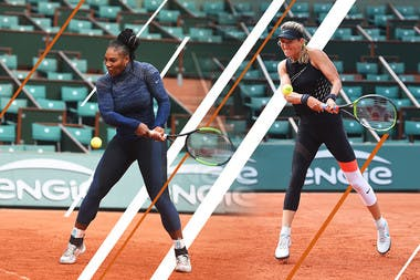 Serena Williams (L) and Victoria Azarenka are both unseeded and playing at Roland-Garros for the first time in two years.