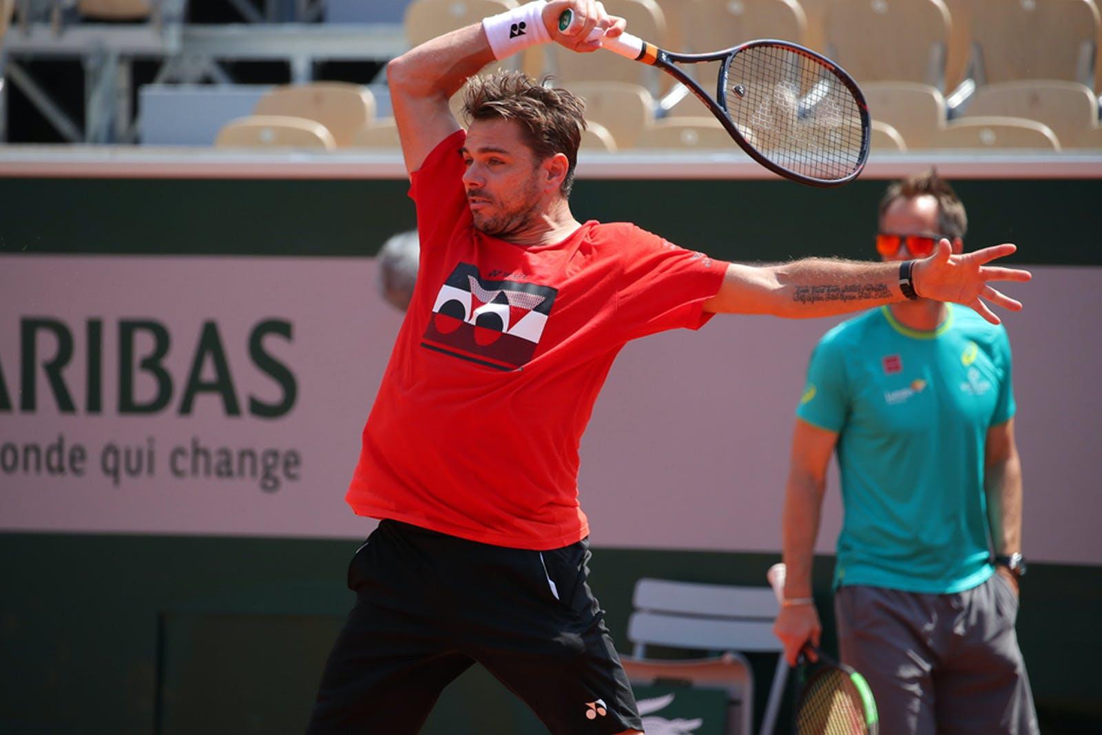 Stan Wawrinka - Roland-Garros 2019 - entraînement