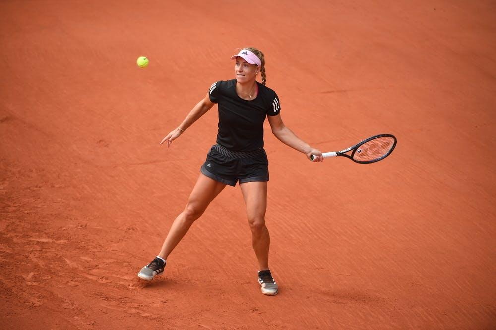 Angelique Kerber, Roland-Garros 2020, practice