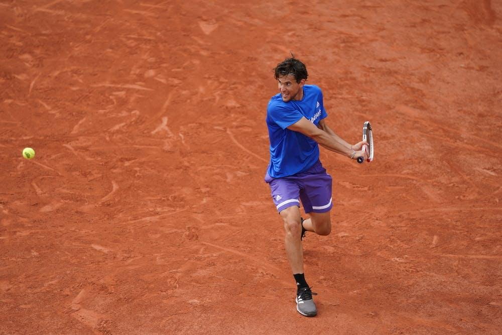 Dominic Thiem, Roland Garros 2021, practice