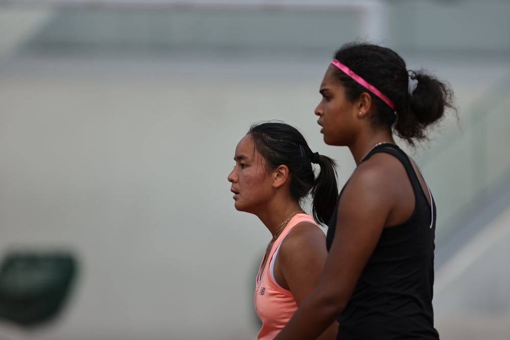 Lucie Nguyen Tan, Anaelle Leclercq, Roland-Garros 2021, girls doubles, first round