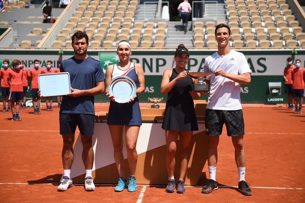 Aslan Karatsev, Elena Vesnina, Desirae Krawczyk, Joe Salisbury, Roland-Garros 20201, mixed doubles final