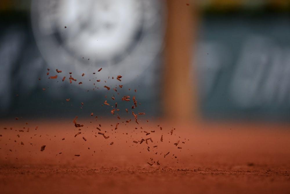 Red dirt at Roland-Garros 2020