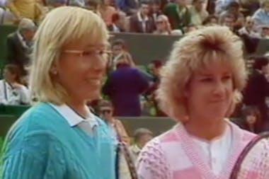 Evert et Navratilova se disputent une nouvelle finale à Roland-Garros en 1986