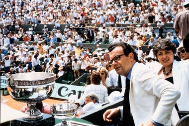 Philippe Chatrier at Roland-Garros 1983