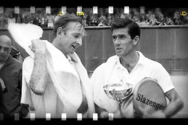 Ken Rosewall Rod Laver Roland-Garros 1968 French Open era Paris.