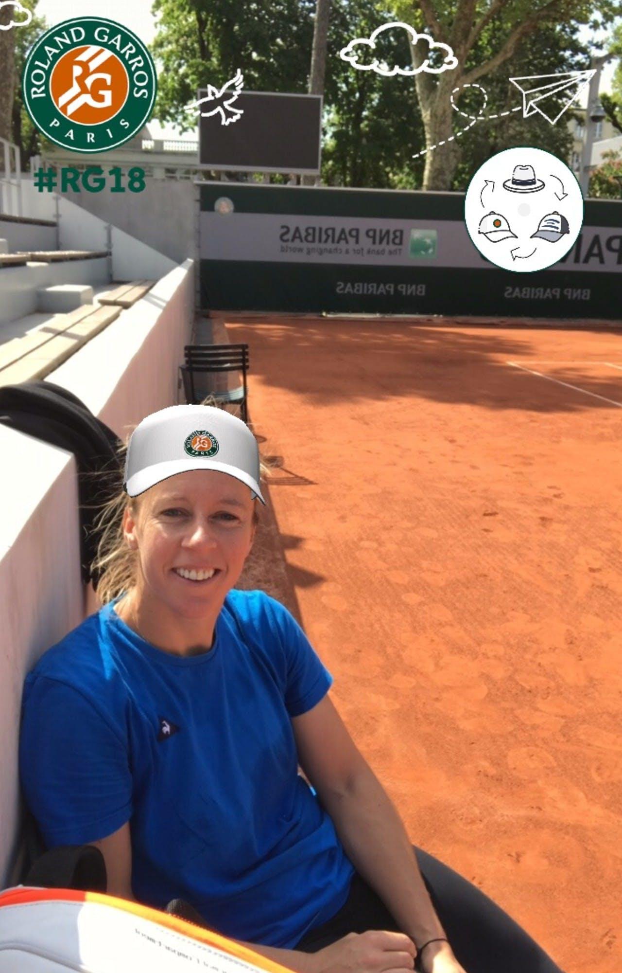 Pauline Parmentier filtre Facebook filter Roland-Garros 2018