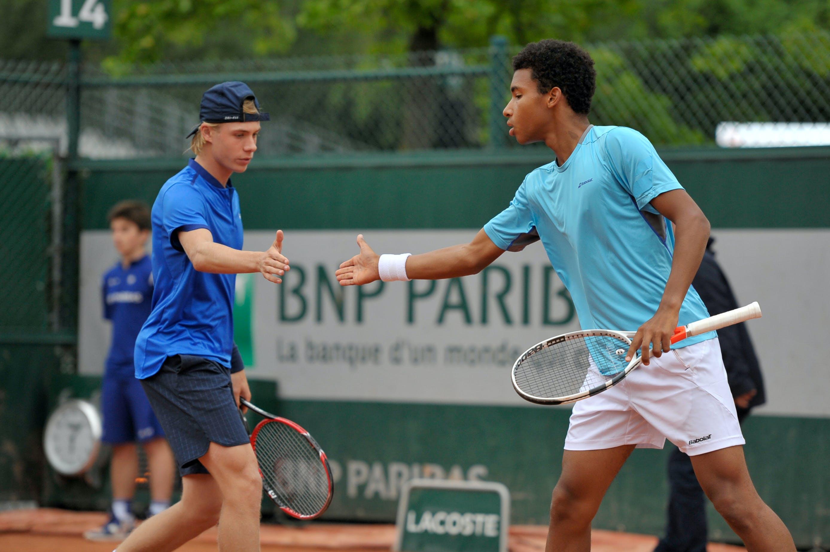 Denis Shapovalov Felix Auger Aliassime Roland-Garros junior 2016