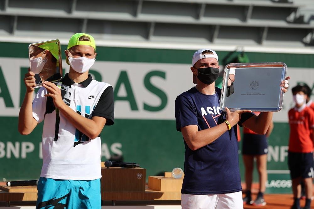 Dominic Stephan Stricker, Leandro Riedi, Roland-Garros 2020, finale simple garçons,