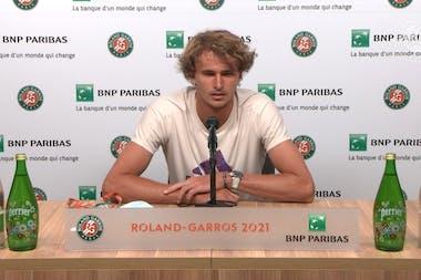 Conférence de presse Alexander Zverev / Troisième tour Roland-Garros 2021