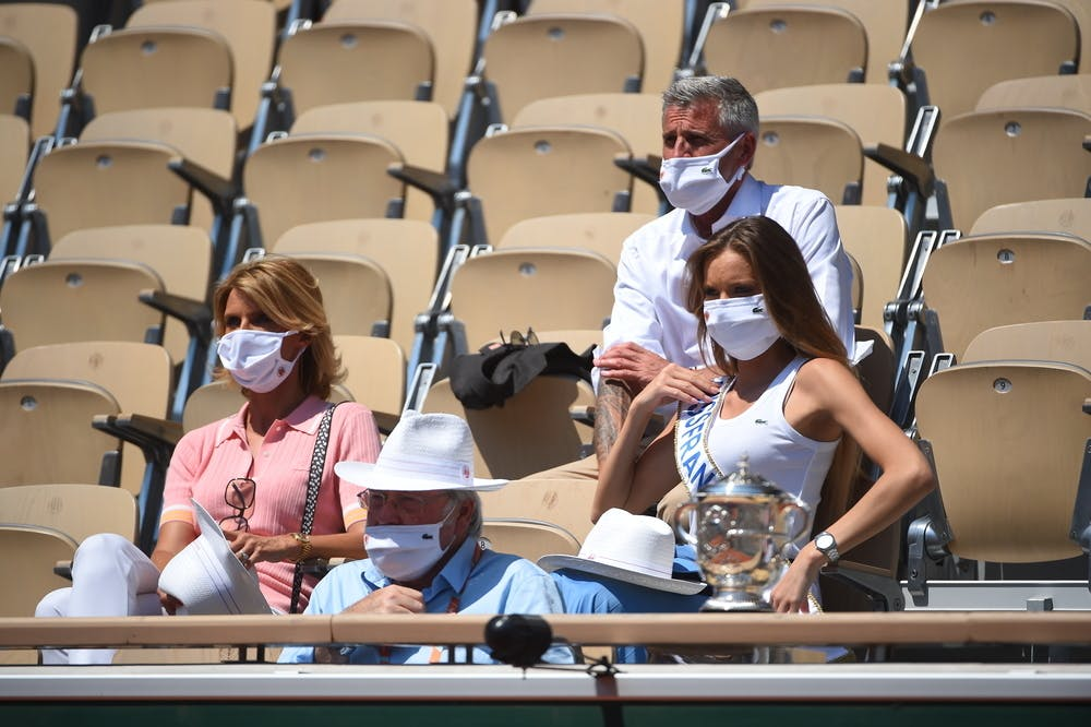 Sylvie Tellier, Pierre Doumayrou, Gilles Moretton, Amandine Petit, Roland-Garros 2021, semi-final