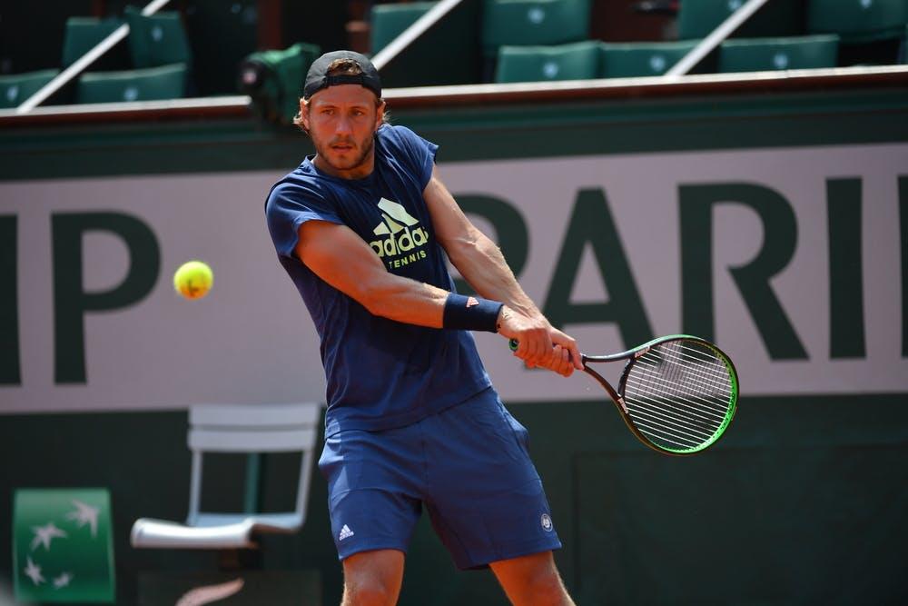 Lucas Pouille entraînement practice Roland-Garros 2018