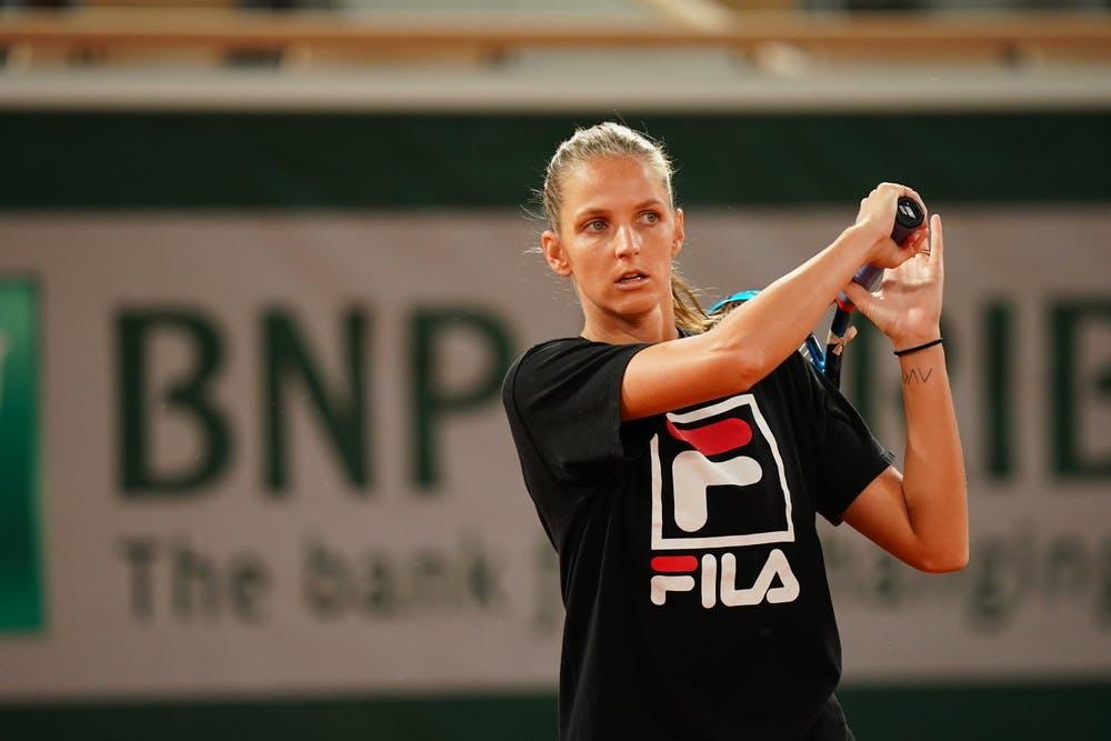 Karolina Pliskova, Roland-Garros 2020, entraînement