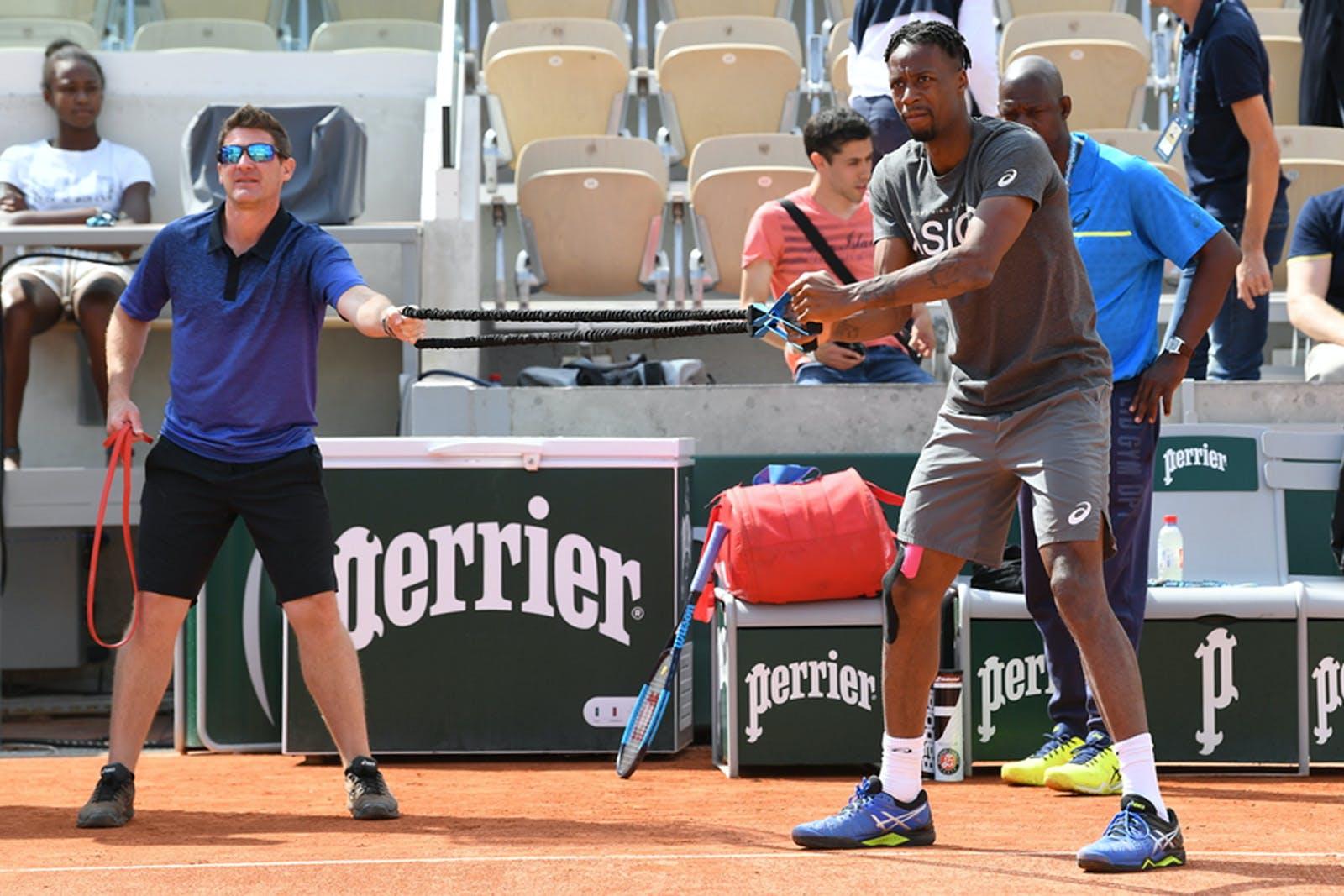 Gaël Monfils - Roland-Garros 2019 - entraînement