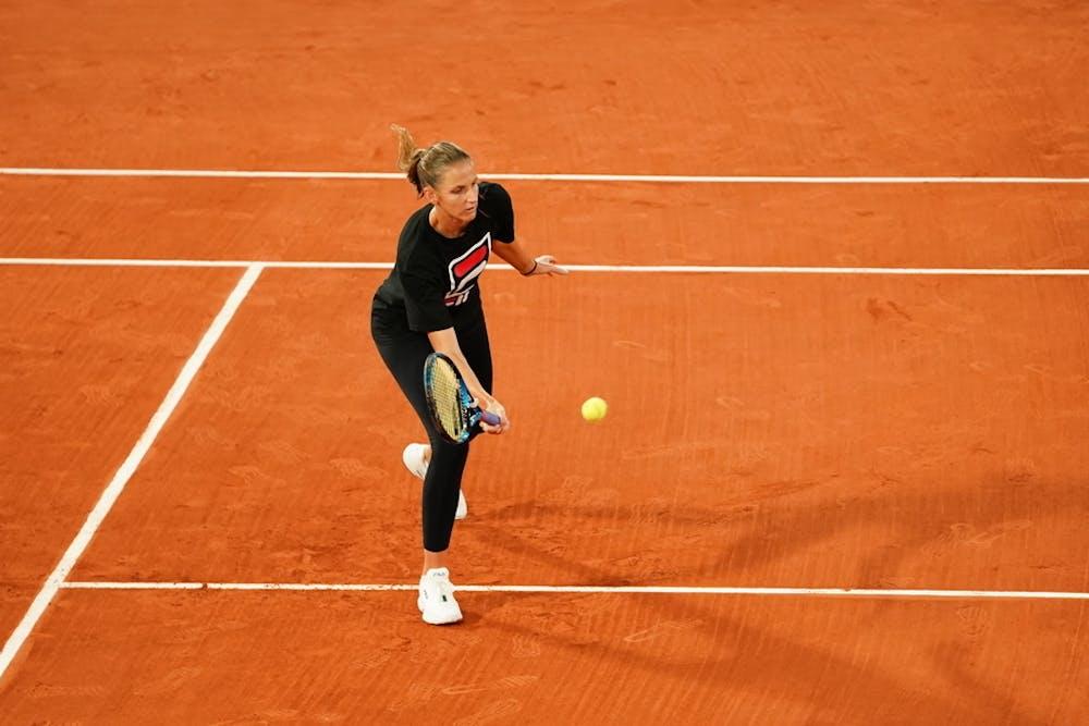 Karolina Pliskova, Roland-Garros 2020, entraînement, jeudi 24 septembre