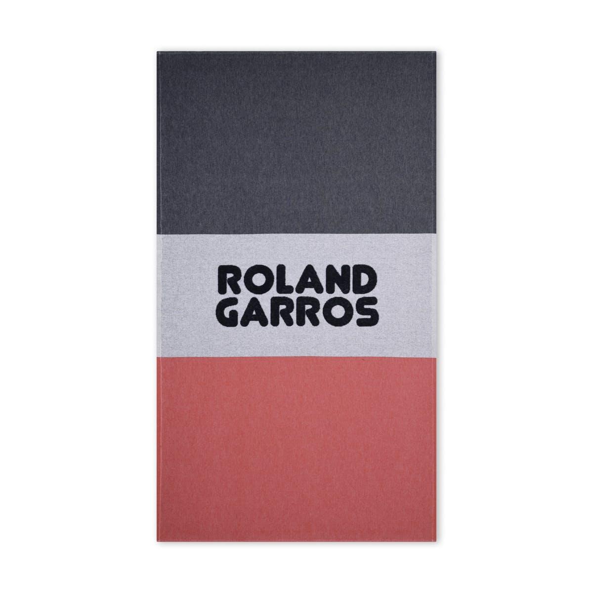 Fouta Griffe Roland-Garros Carré Blanc