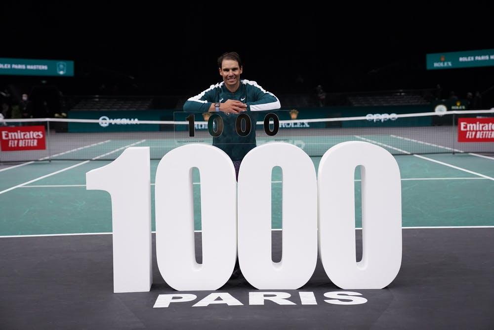 Rafael Nadal 1000 wins Rolex Paris Masters