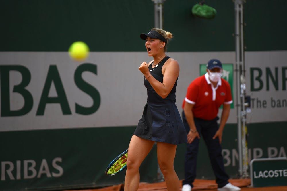 Marta Kostyuk, Roland Garros 2021 second roud