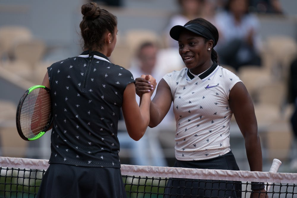 Sloane Stephens and Sara Sorribes Tormo