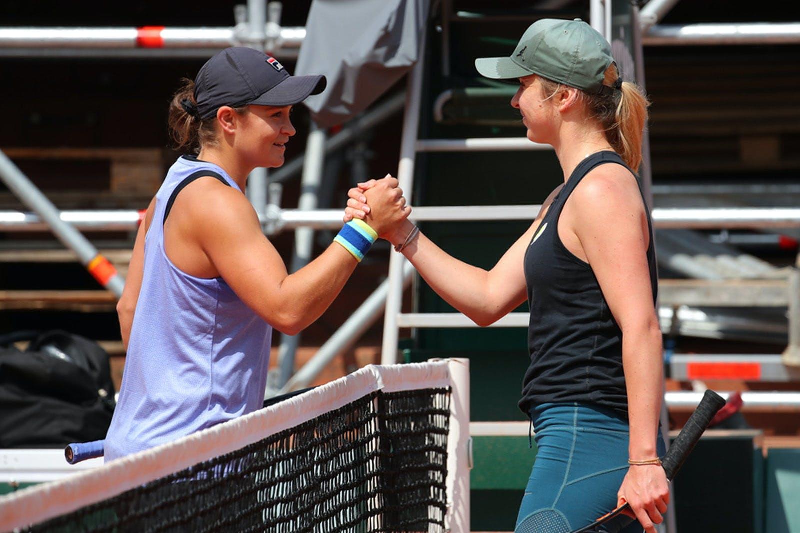 Elina Svitolina Ashleigh Barty Roland Garros 2019