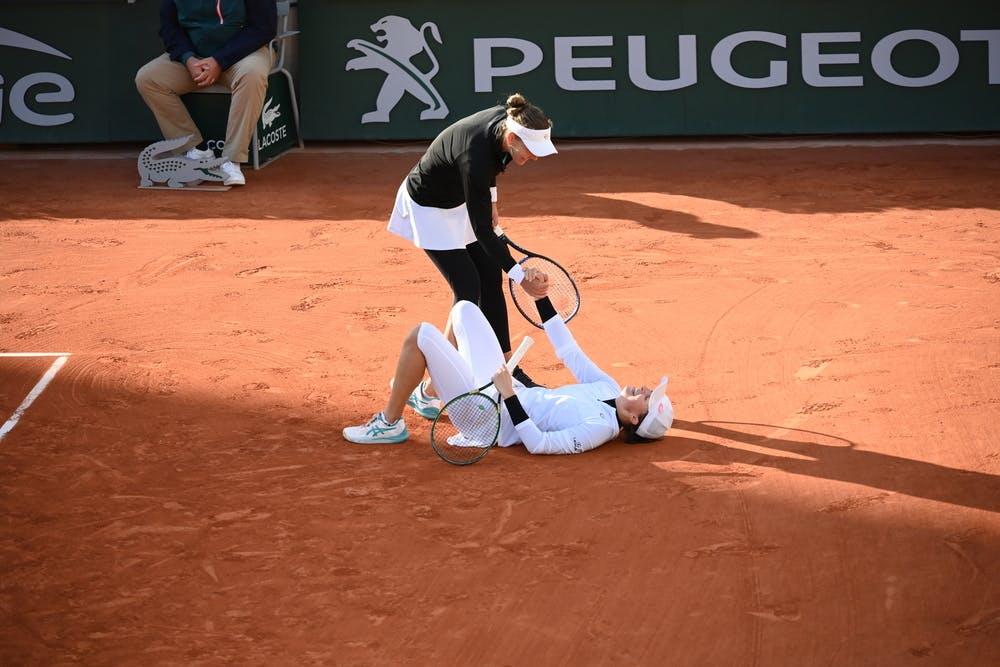 Iga Swiatek, Nicole Melichar, Roland Garros 2020, doubles semi-finals
