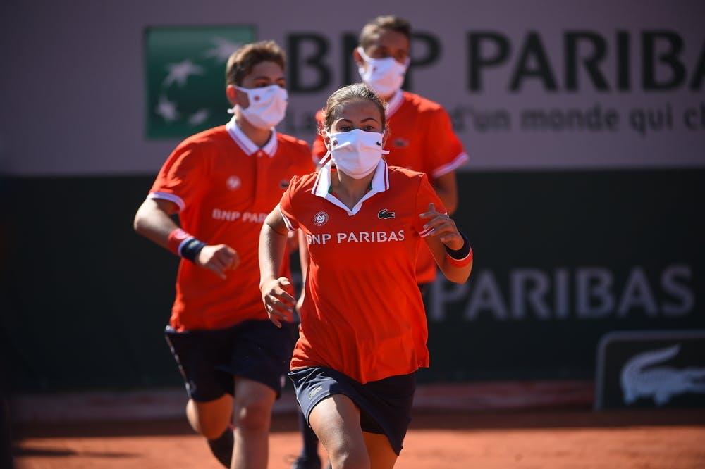 Ramasseurs de balles, masques, Roland-Garros 2020